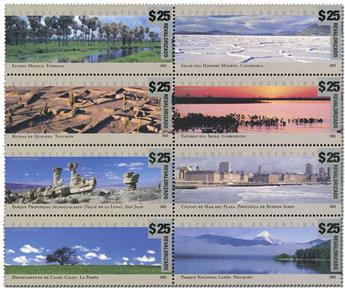 n° 2403A/2410A - Timbre ARGENTINE Poste