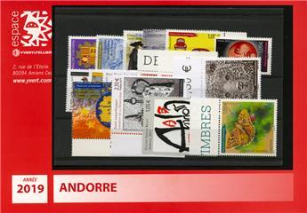 n° 777/791 -  Selo Andorra Ano completo (2016)