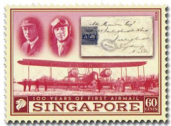 n° 2349/2350 - Timbre SINGAPOUR Poste