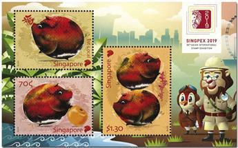 n° 209 - Timbre SINGAPOUR Blocs et feuillets