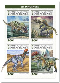 n° 6016/6019 - Timbre CENTRAFRICAINE Poste