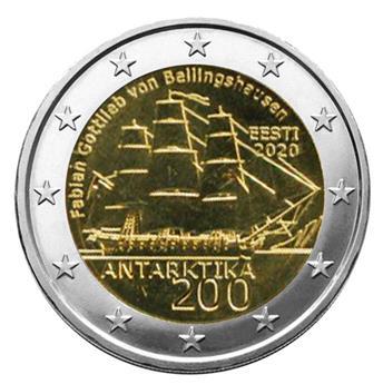 2 EURO COMMEMORATIVE 2020 : ESTONIE (200 ans de la découverte de l´Antarctique)