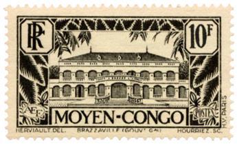n°133* - Timbre CONGO Poste