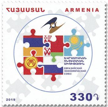 n° 956 - Timbre ARMENIE Poste
