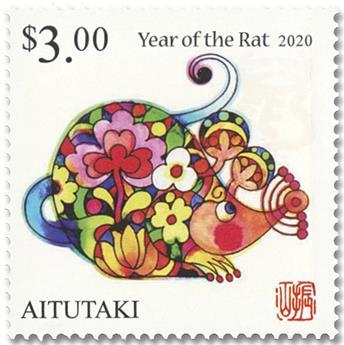 n° 738/739 - Timbre AITUTAKI Poste