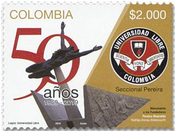 n° 2043 - Timbre COLOMBIE Poste