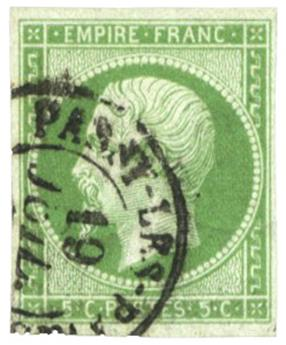n°12 obl. TB - Timbre FRANCE Poste