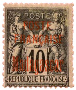 n°15* - Timbre MADAGASCAR Poste