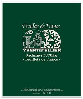 Feuilles FS Feuillets de France : pages vierges (x10)
