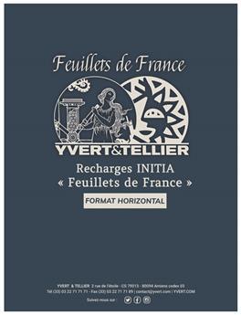 """Recharge INITIA """"Feuillets de France"""" - Horizontale (x5)"""