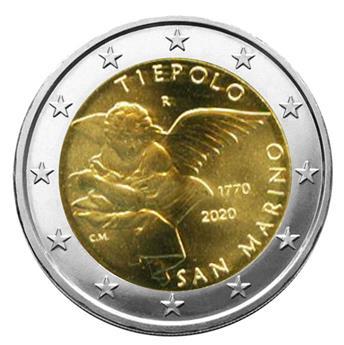 BU : 2 EURO COMMEMORATIVE 2020 : SAINT-MARIN (250 ans de la mort de Giambattista Tiepolo)