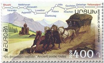 n° 181/182 - Timbre ARMENIE (Haut-Karabakh) Poste