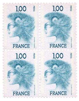 n°1895C - Timbre France Poste (en bloc de 4)