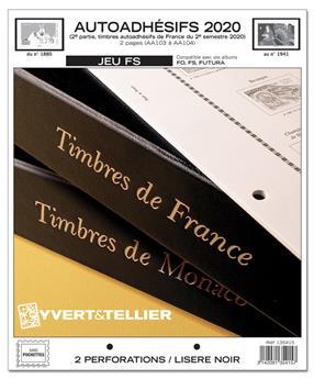 FRANCE AUTOADHESIFS FS : 2020 - 2EME SEMESTRE (Sans pochettes)