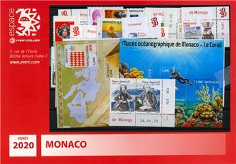 n° 3214/3259 - Timbre Monaco Année complète (2020)