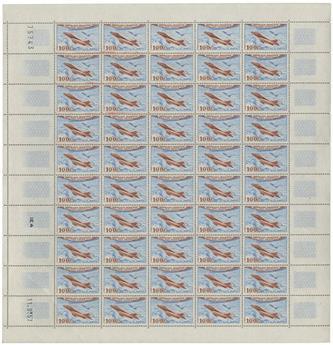 n° 30 -  Timbre France Poste aérienne (Feuille)