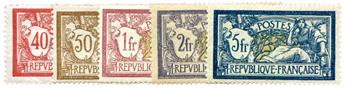 n°119/123* - Timbre FRANCE Poste