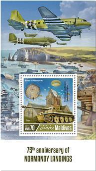 n° 1296 - Timbre MALDIVES Blocs et feuillets