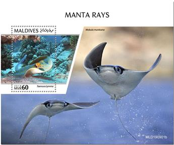 n° 1411 - Timbre MALDIVES Blocs et feuillets