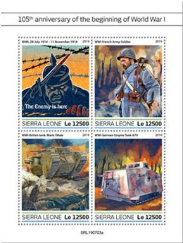 n° 9122/9125 - Timbre SIERRA LEONE Poste