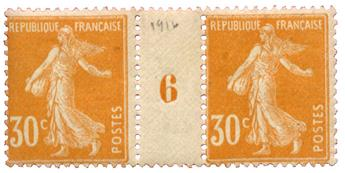 n°141*  - Timbre FRANCE Poste