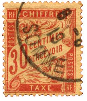 n°34 obl. - Timbre FRANCE Taxe