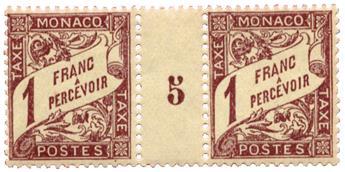 n°23** - Timbre MONACO Taxe