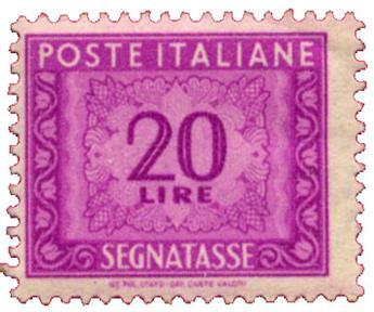 n°74** - Timbre ITALIE  Taxe