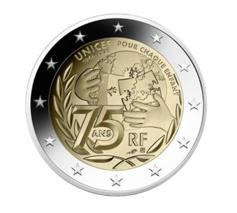 2 EURO COMMEMORATIVE 2021 : FRANCE (75 ans UNICEF)