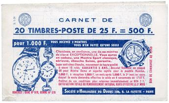 n°1011-C2** - Timbre FRANCE Carnets
