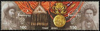 n° 128/129 - Timbre KIRGHIZISTAN (Kyrgyz Express Post) Poste