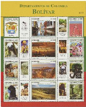 n° 2143/2154 - Timbre COLOMBIE Poste