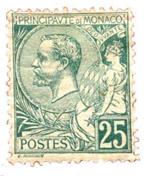 n°16* - Timbre MONACO Poste