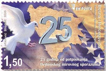 n° 848 - Timbre BOSNIE-HERZEGOVINE Poste