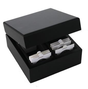 Box en bois pour monnaies sous étuis (SAFE)