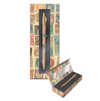 Stylo bille et boîte Stamps