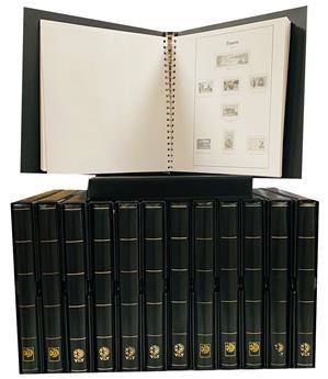 FRANCE : feuilles Supra luxe 1945/2015 en 13 volumes noirs avec étuis.