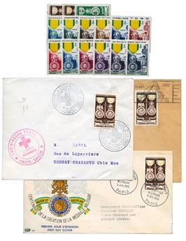 COLONIES (Grandes Séries Coloniales): Médaille Militaire la série complète 12 valeurs neufs** + 3 enveloppes 1er jour