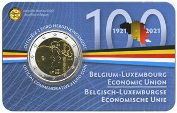 BU : 2 EURO COMMEMORATIVE 2021 : BELGIQUE - UNION ECONOMIQUE AVEC LE LUXEMBOURG (Version flamande)