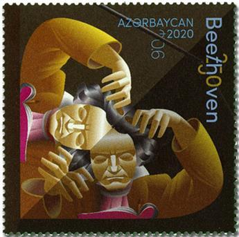 n° 1260 - Timbre AZERBAIDJAN Poste