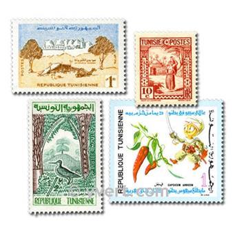 TÚNEZ: lote de 100 sellos