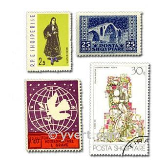 ALBÂNIA: lote de 100 selos