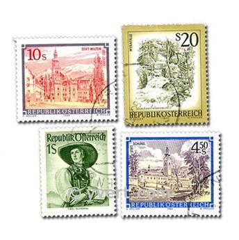 AUSTRIA: lote de 100 sellos