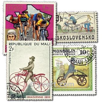 CYCLING: envelope of 50 stamps