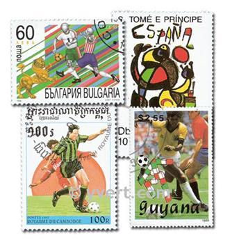 FUTEBOL: lote de 200 selos