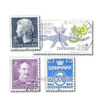 DANEMARK : pochette de 200 timbres