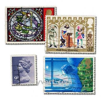 GREAT BRITAIN: envelope of 300 stamps