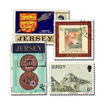 JERSEY: lote de 100 selos