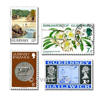 GUERNSEY: envelope of 25 stamps