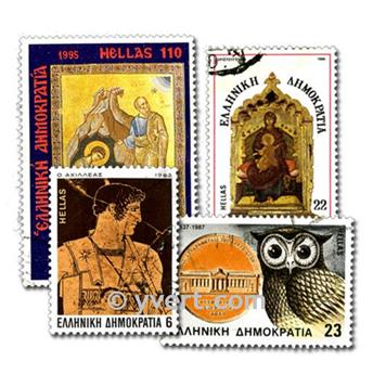 GREECE: envelope of 100 stamps